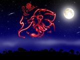 Луна в знаке зодиака Лев.